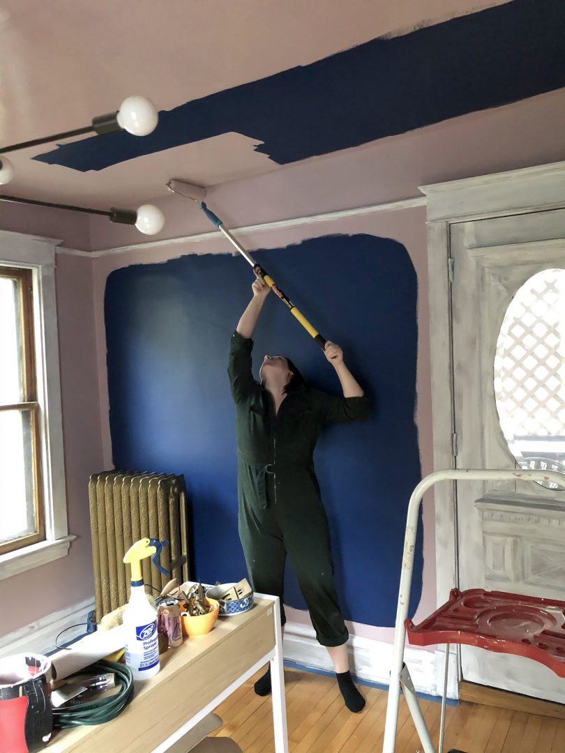 Nicole, Painting, Rolling on the Ceiling Color