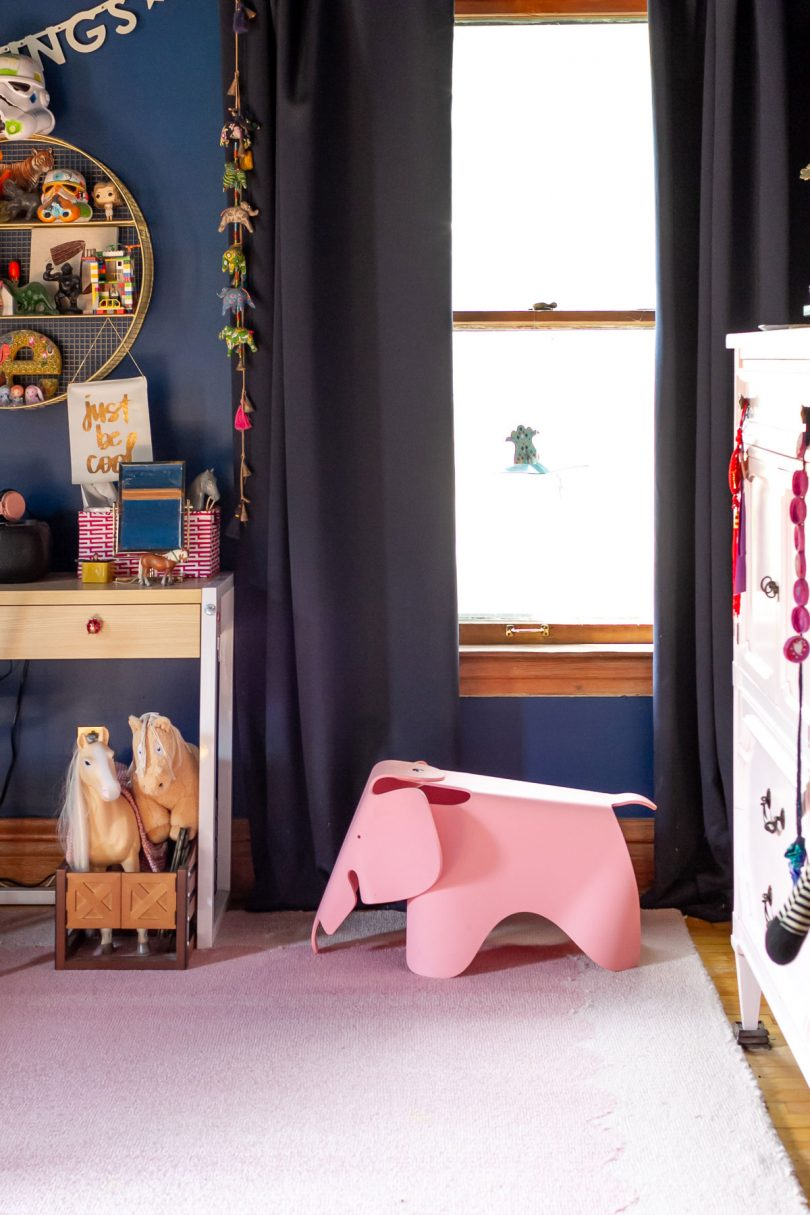 Pink Eames Elephant in Eleanor's Room (Before) | Making it Lovely