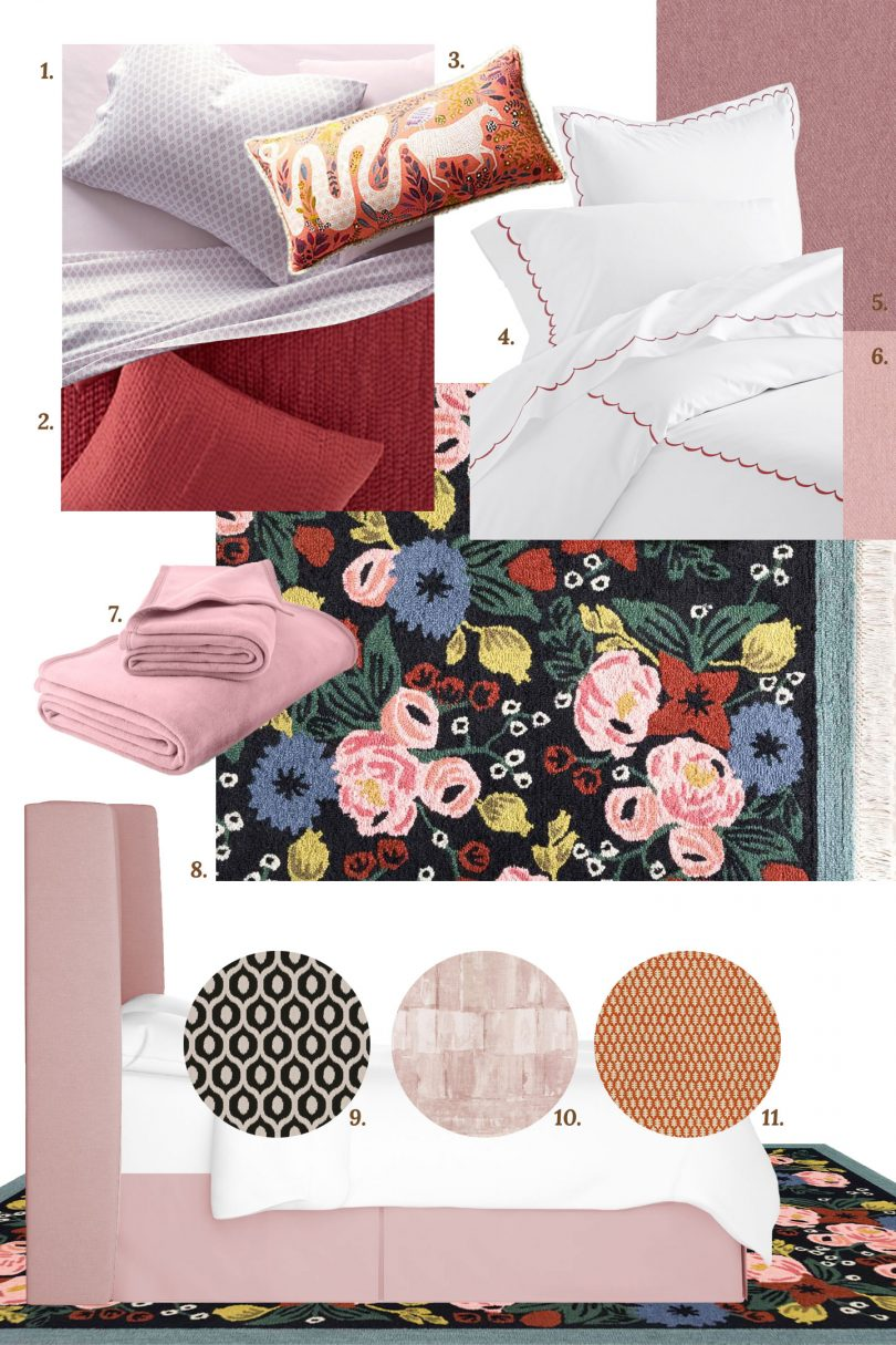 Bedding, Fabric, and Rug Choices for Eleanor's Room   One Room Challenge   Making it Lovely