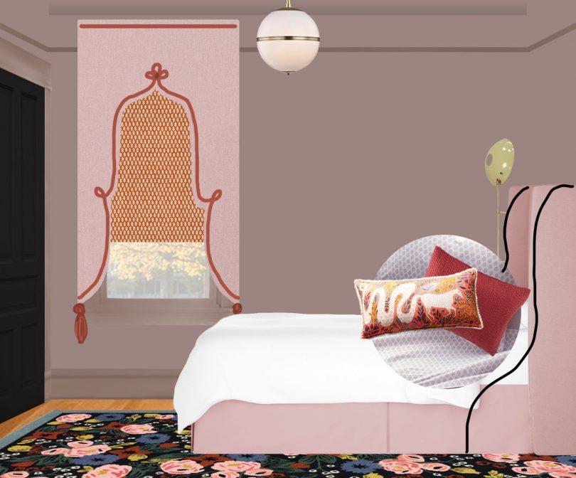 Eleanor's Bedroom - Elevation, One Room Challenge