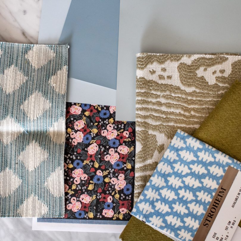 Fabricut Blues 3   Eleanor's Room   One Room Challenge   Making it Lovely