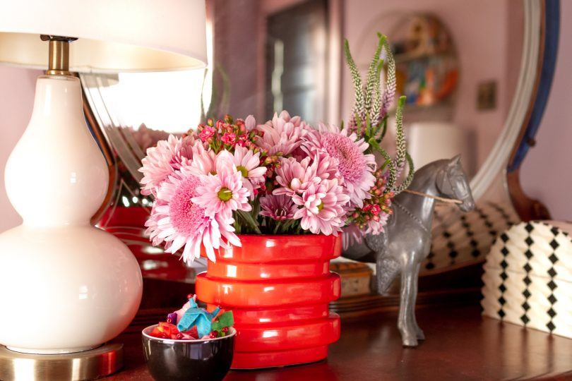 Lamp, Flowers, Horse Figure