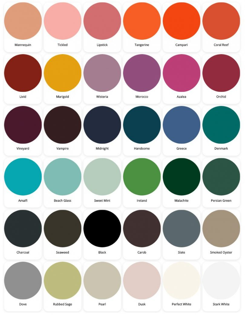Blueprint Lighting 2020 Color Chart