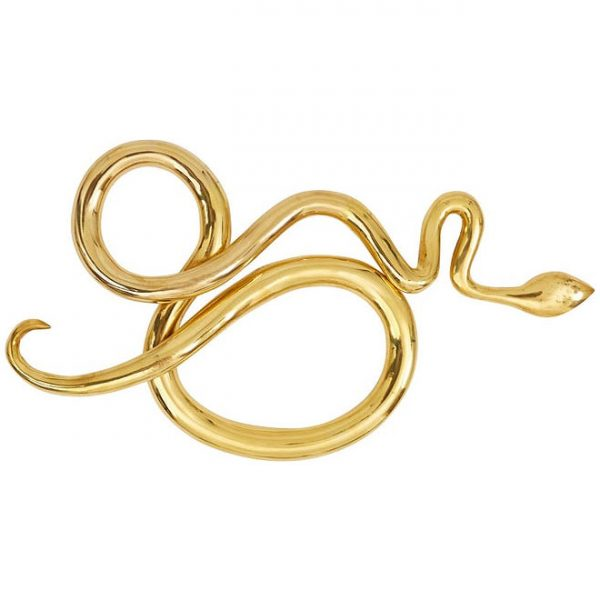 Brass Snake Sculpture