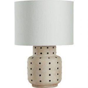 Grid Black and White Polka Dot Table Lamp, CB2