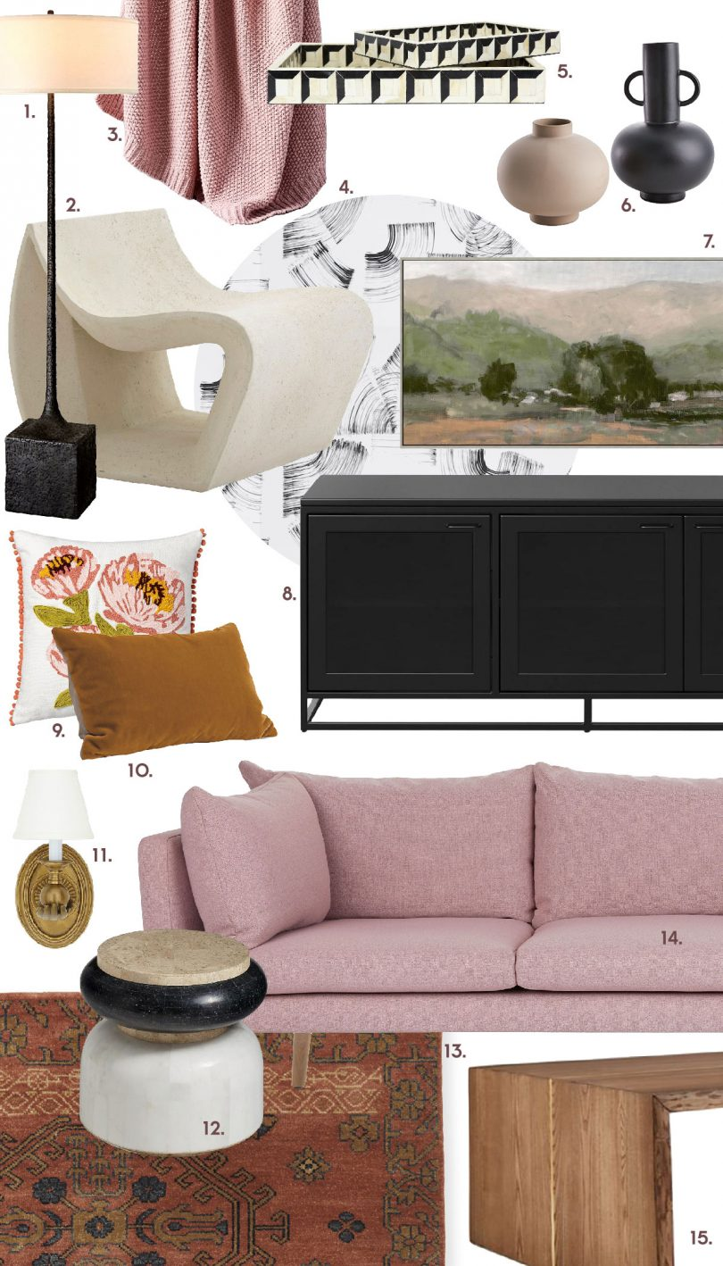 Pink Sofa Living Room | Making it Lovely