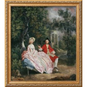 Conversation in a Park, Probably a Portrait of the Artist and His Wife, Margaret Burr, 1728-98; Thomas Gainsborough