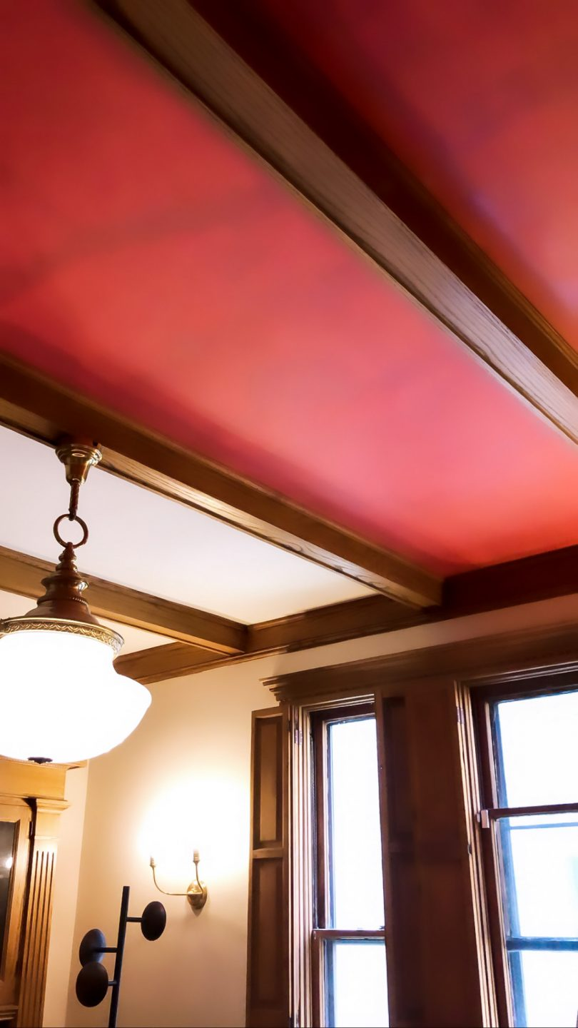Painting the Dining Room Ceiling Red | Making it Lovely