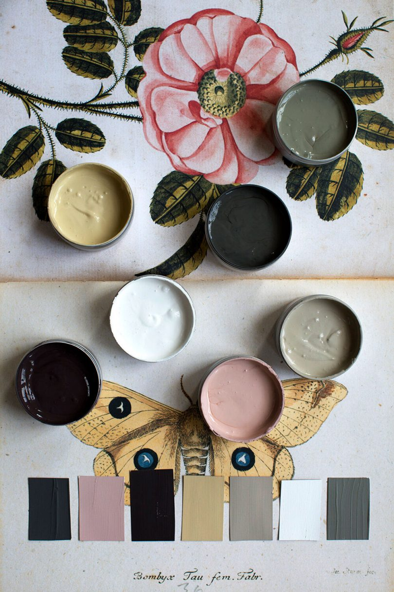 Atelier Ellis rose and moth paint palette