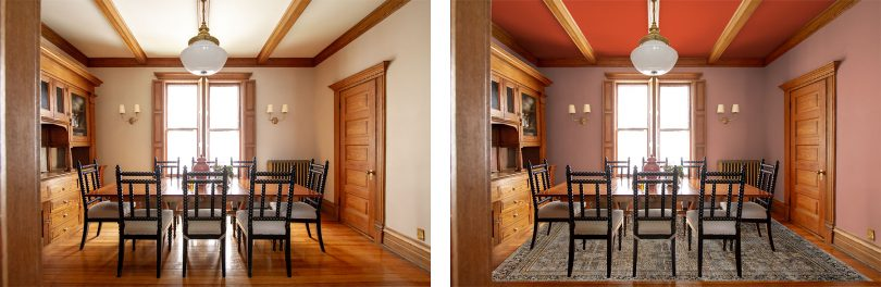 Dining Room Paint Color Mockup | Making it Lovely