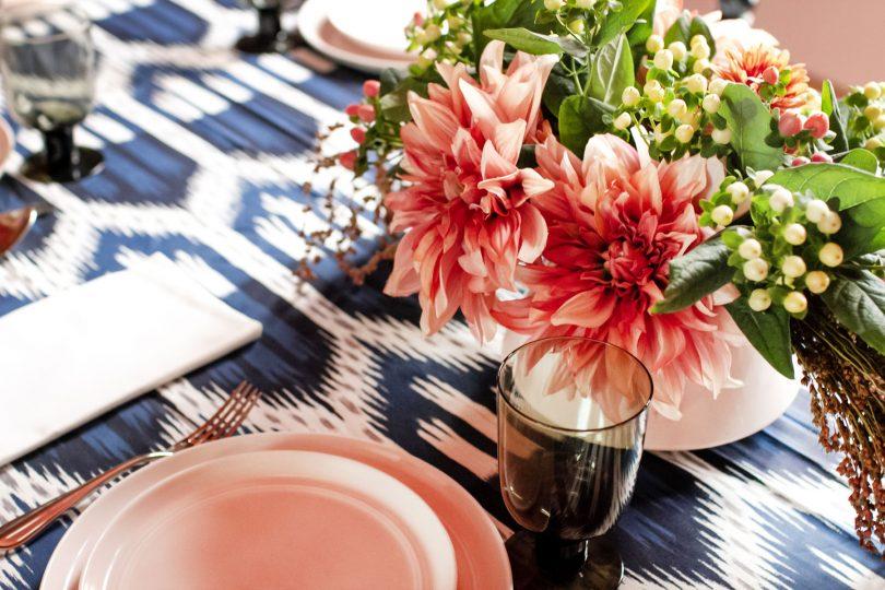 Schumacher Bukhara Ikat Wiliams-Sonoma Tablecloth | Making it Lovely