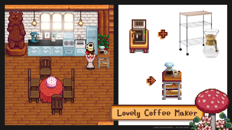 Lovely Coffee Maker - Stardew Valley Mod by Lulu Lovely