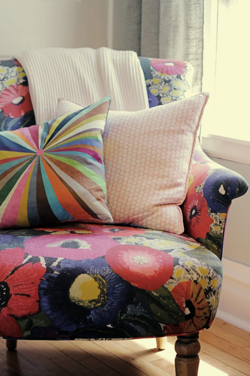 Floral Armchair Before | Making it Lovely