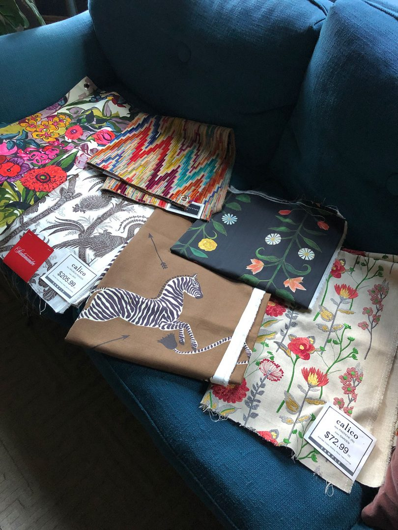 Calico Corners Fabric Samples at Home | Making it Lovely