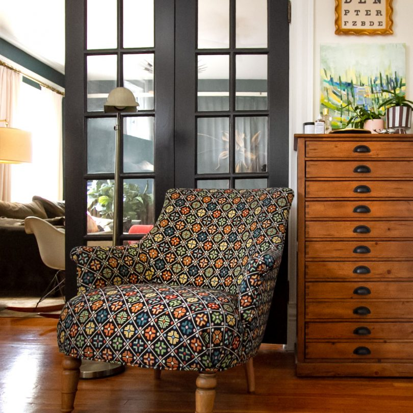 Reupholstered Armchair from Calico Corners | Making it Lovely