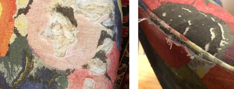 Ripped Linen Chair Fabric